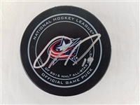 Ryan Johansen Signed Official NHL Columbus Blue Jackets Game Puck PSA #AA95415