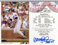 "Ryne Sandberg Chicago Cubs Signed ""HOF 05"" 8x10 Photo Tristar COA"