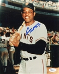 Willie Mays San Franciso Giants Signed 8x10 Photo JSA COA