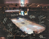 New York Rangers 16x20 Photo Signed by Ed Giacomin, Vic Hadfield, Joe Kocur, Steve Vickers +8 Others MAB COA