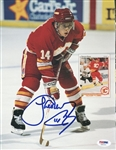 Theo Fleury Flames Signed Magazine Page Photo Authentic Autograph PSA #U45461