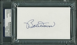 Bobby Doerr Red Sox Signed 3x5 Index Card PSA/DNA Slabbed #83515886