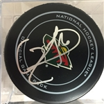 Jason Zucker Signed Minnesota Wild Official Game Puck Beckett COA