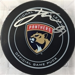 Jonathan Marchessault Signed Florida Panthers Official game puck PSA COA