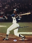 Hank Aaron Atlanta Braves Signed 11x14 715 Color Photo PSA COA