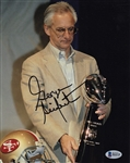 George Seifert Signed 49ers 8x10 Photo Authentic Autograph Beckett BAS #B64310