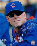 "John Mallee ""2016 WS Champs"" Signed Cubs 8x10 Photo Beckett BAS Witness COA"