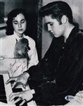 Barbara Hearn Smith Signed 8x10 Photo w/ Elvis Presley  Beckett BAS #B95669