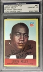 Leroy Kelly Signed HOF 1994 1967 Philadelphia Rookie Card PSA Graded 10