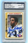 Tony Dorsett Signed HOF 94 1978 Topps Rookie Card 315 PSA Autograph Graded 10