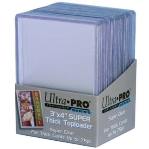 25 Ultra Pro 75pt 3x4 Super Thick Toploaders