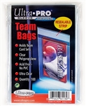 100 Ultra Pro Team Set Card Bags Resealable Soft Sleeves