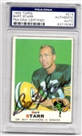 Bart Starr 1969 Topps Signed Card #215 PSA Slabbed