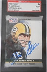 Bart Starr 1990 Pro Set Signed Card SGC Slabbed