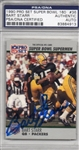 Bart Starr Signed 1990 Proset Super Bowl 160 Card #36 PSA Slabbed