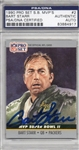 Bart Starr Signed 1990 Proset Super Bowl Mvps Card #2 PSA Slabbed