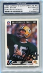 Bart Starr Signed 1991 Dominos Quarterbacks Card #42 PSA Slabbed
