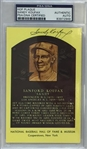 Sandy Koufax Signed HOF Plaque Postcard PSA Slabbed