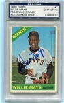 Willie Mays Signed 1966 Topps Card #1 PSA Slabbed Gem Mint 10 Autograph