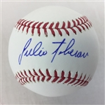 Julio Teheran Atlanta Braves Signed OML Baseball Lojo Exclusive COA