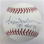 Reggie Jackson New York Yankees Signed HOF 93 OML Baseball PSA COA