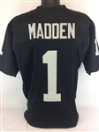John Madden Oakland Raiders Custom Home Jersey Mens Large
