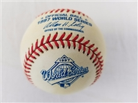 1997 Rawlings MLB Official World Series Game Baseball w/ Box Indians vs Marlins