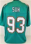 Ndamukong Suh Miami Dolphins Custom Home Jersey Mens Large