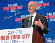 Adam Silver Signed NBA Commissioner 8x10 Photo Autographed Beckett BAS #B85361