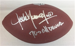 "Jack Youngblood Signed ""70s All Decade"" Wilson Football Schwartz Sports COA"