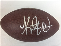 Kurt Warner St. Louis Rams Signed Wilson Football Beckett COA