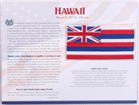 Hawaii Willabee & Ward State Flag Patch with Statistics and Collectible Info Card