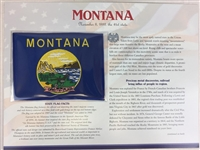 Montana Willabee & Ward State Flag Patch with Statistics and Collectible Info Card