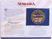 Nebraska Willabee & Ward State Flag Patch with Statistics and Collectible Info Card