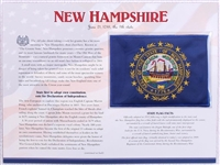 New Hampshire Willabee & Ward State Flag Patch with Statistics and Collectible Info Card