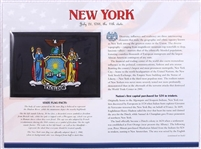 New York Willabee & Ward State Flag Patch with Statistics and Collectible Info Card