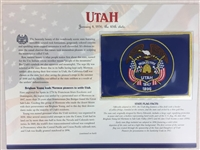 Utah Willabee & Ward State Flag Patch with Statistics and Collectible Info Card