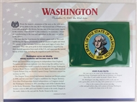 Washington Willabee & Ward State Flag Patch with Statistics and Collectible Info Card