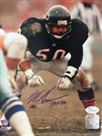Mike Singletary Signed Hof 98 8x10 Autographed Photo JSA COA Bears