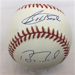 Bobby & Barry Bonds Signed NL Official Baseball JSA COA