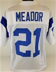 Eddie Meador Los Angeles Rams Custom White Away Jersey Mens 3XL