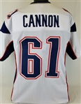 Marcus Cannon New England Patriots Custom Away Jersey Mens XL
