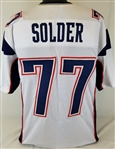 Nate Solder New England Patriots Custom Away Jersey Mens XL