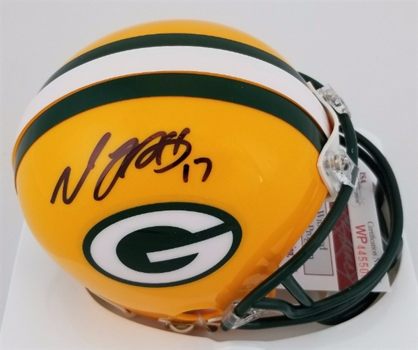 Davante Adams Signed Green Bay Packers Mini Helmet JSA Witness Autograph COA