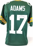 Davante Adams Green Bay Packers Signed Green Jersey JSA Witness Autograph COA