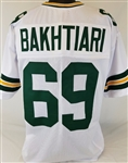 David Bakhtiari Green Bay Packers Custom Away Jersey Mens 2XL