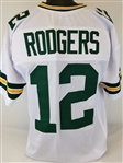 Aaron Rodgers Green Bay Packers Custom Away Jersey Mens 2XL