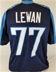 Taylor Lewan Tennessee Titans Custom Home Jersey Mens Large