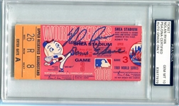"Nolan Ryan Signed 1969 World Series ""Game 3 Save"" Ticket PSA COA Graded 10 Gem Mint"