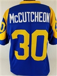 Lawrence McCutcheon Los Angeles Rams Custom Blue/Yellow Home Jersey Mens 3XL